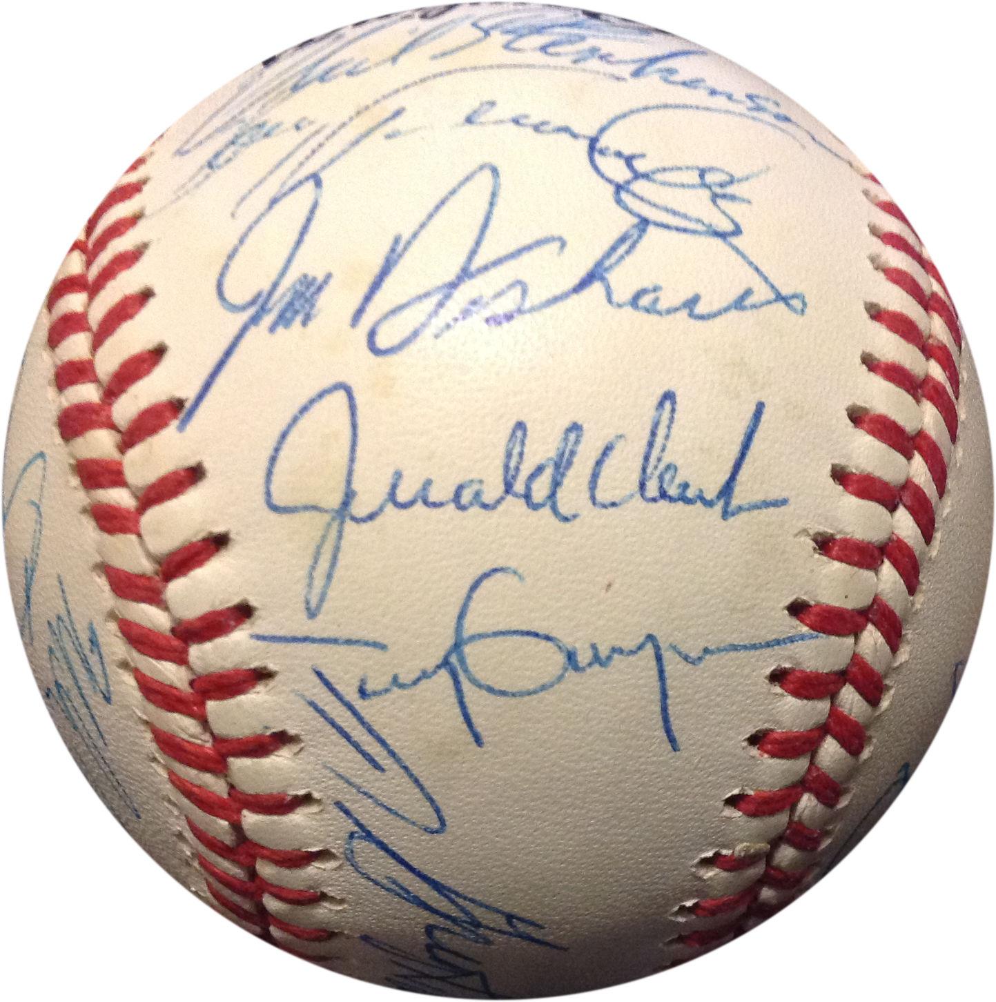 1992 San Diego Padres Team Signed NL Baseball 26 Autos Gwynn McGriff COA