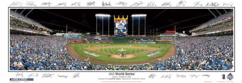 2015 Kansas City Royals World Series game 1 39×14 panoramic photo champions