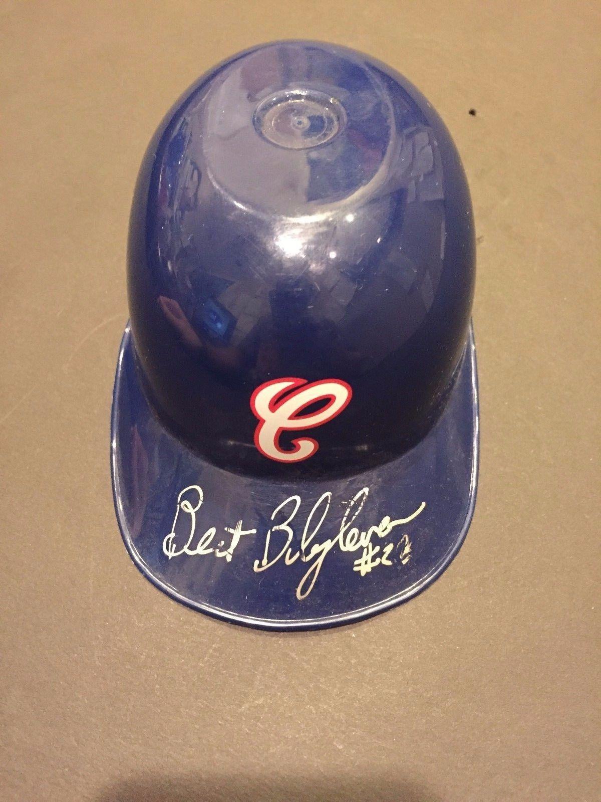 Bert Blyleven Signed Chicago White Sox Mini Helmet Auto COA HOF #23 twins