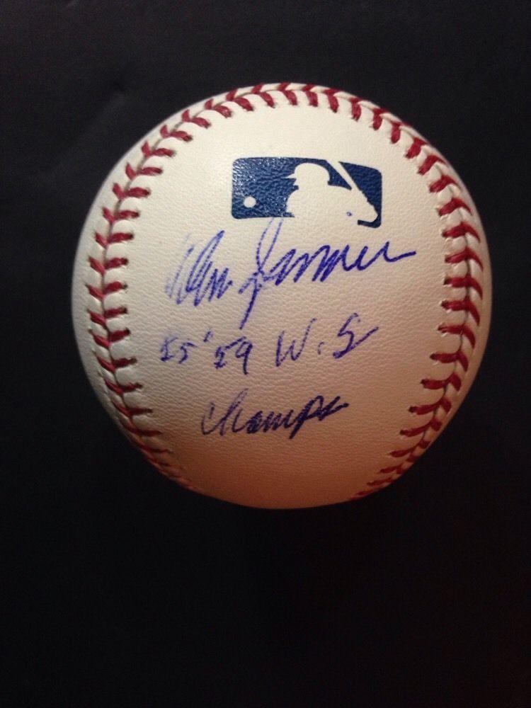 Don Zimmer Brooklyn Dodgers Yankees  Signed Official Mlb Baseball Ins CBM COA