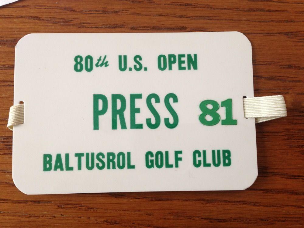 JACK NICKLAUS 80th Us Open Golf CLUB BALTUSROL Press Pass Arm Band Badge TICKET