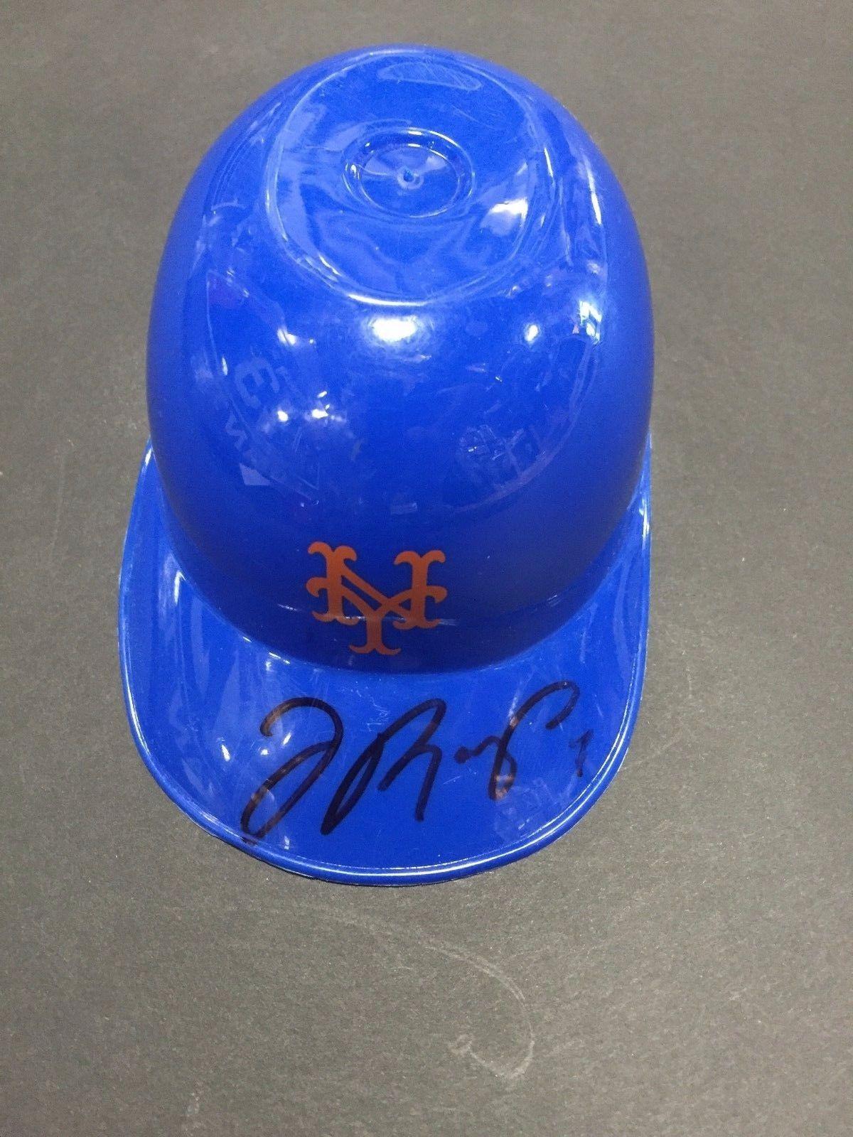 Jose Reyes Signed New York Mets Mini Helmet RARE Auto COA