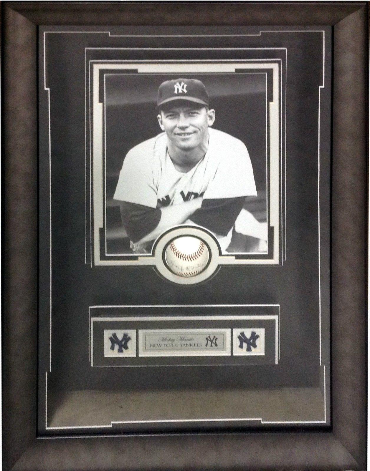 Mickey Mantle Signed Baseball Custom Framed Shadowbox Auto Greer Johnson COA