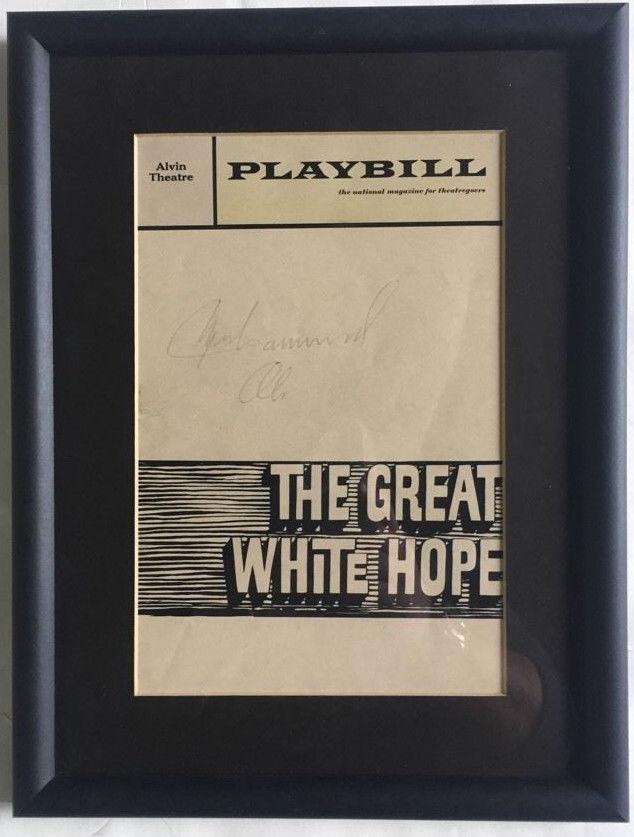 Muhammad Ali Signed Original playbill The Great White Hope Vintage Auto JSA LOA