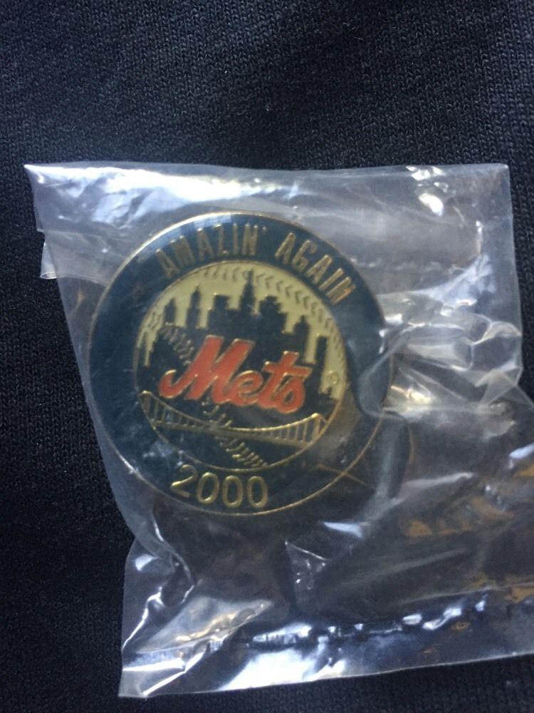 New York Mets 2000 Subeay Series Amazin Again Pin Mint Sealed Shea Stadium