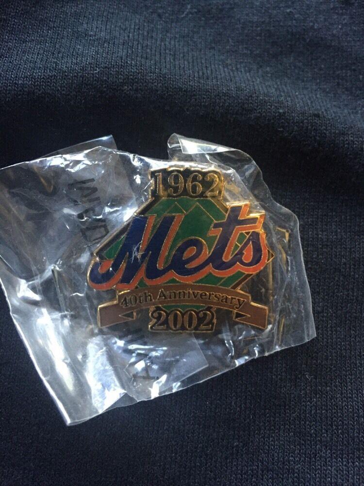 New York Mets 2002 40Th Anniversary Pin Mint Sealed 1962 Shea Stadium