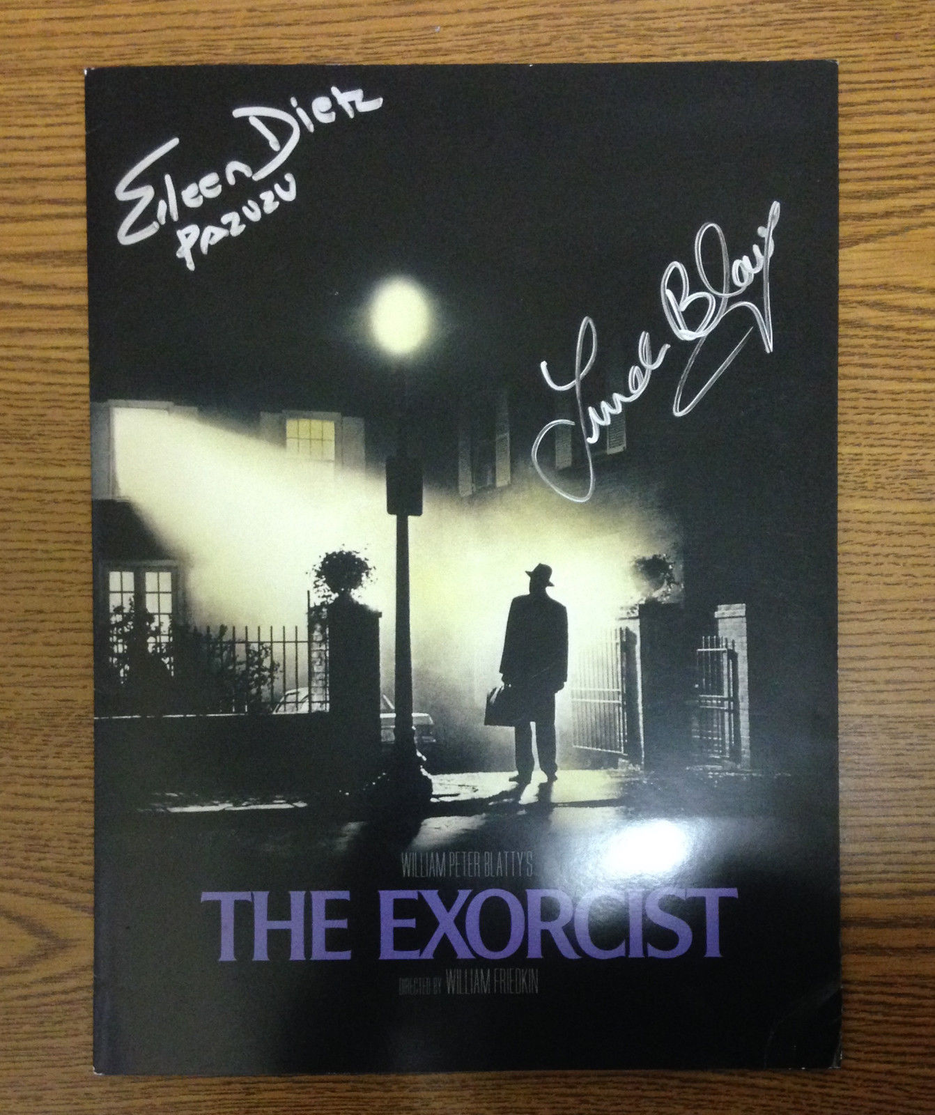 The Exorcist signed 9×12 folder original photos negatives production info COA