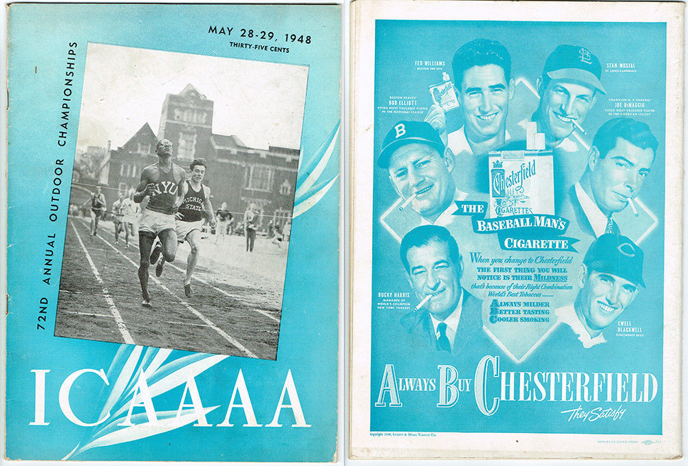 1948 ICAAAA Track Brooklyn Eagle Press Complete Original Program