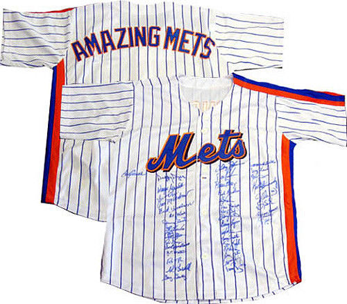 1969 1986 ny Mets World Series Team Signed Jersey 41 Autograph PSA carter seaver