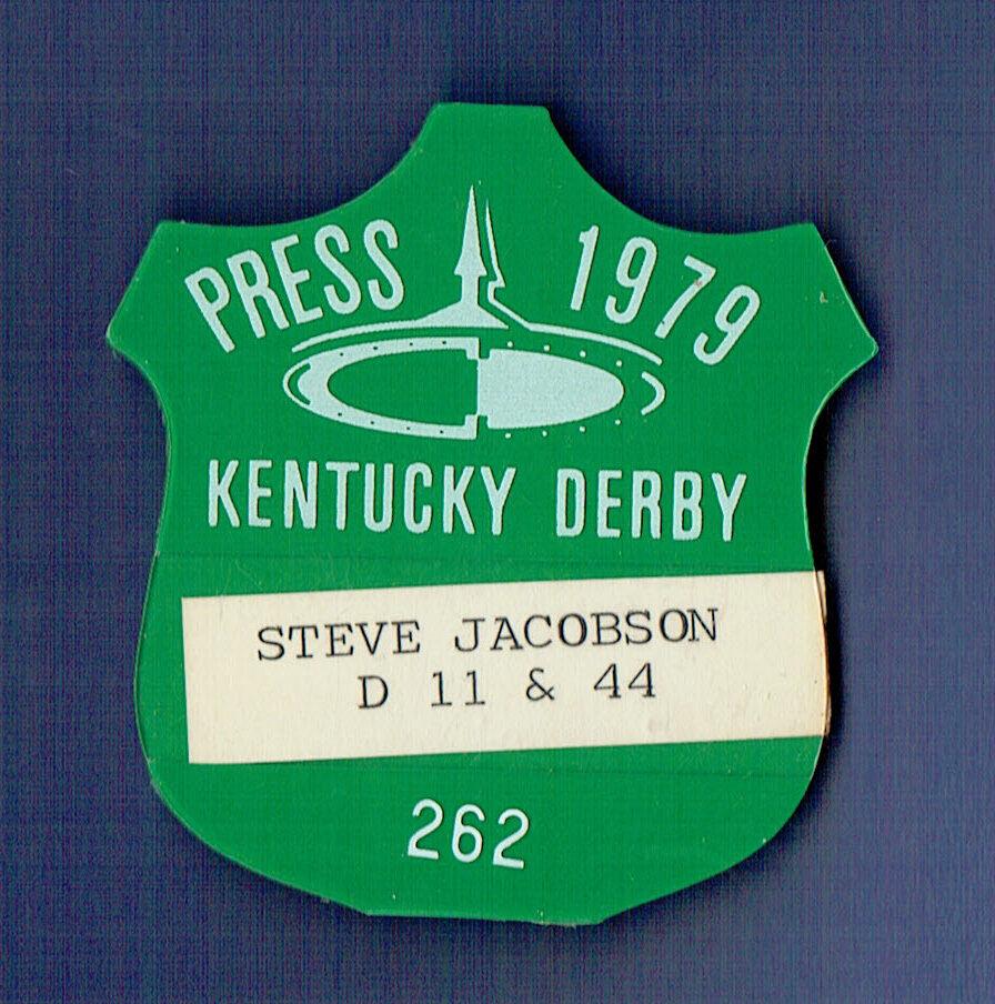 1979 Steve Jacobson Kentucky Derby Press Pin RARE