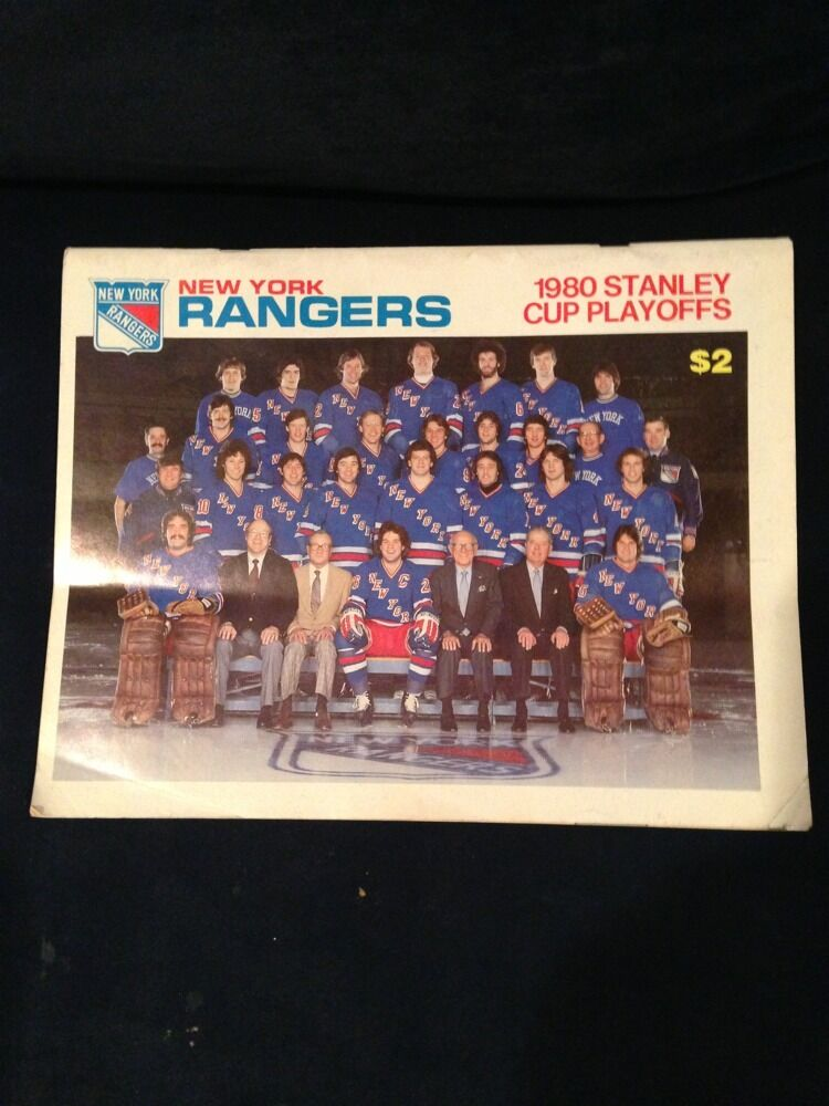 1980 Ny Rangers Stanley Cup Playoffs team  Program Vs Flyers John Davidson msg