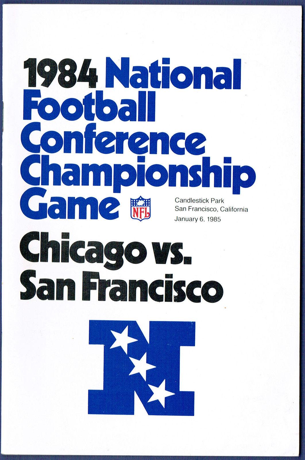 1984 NFC Championship Media Guide Bears vs. 49ers