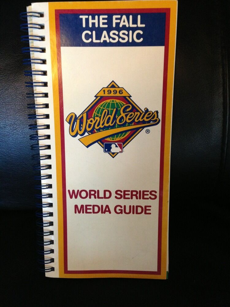 1996 World Series Media Guide Program  Ny Yankees