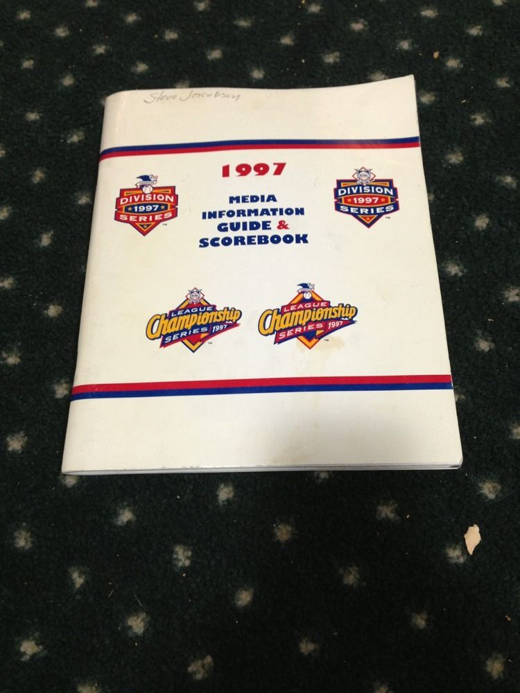 1997 Baseball Championship Media Guide Program yankees vs indians jeter pettitte