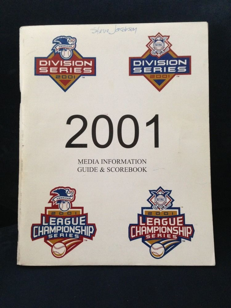 2001 Post Season Baseball Media Guide Scorebook  WS  Yankees Diamondbacks. 9/11