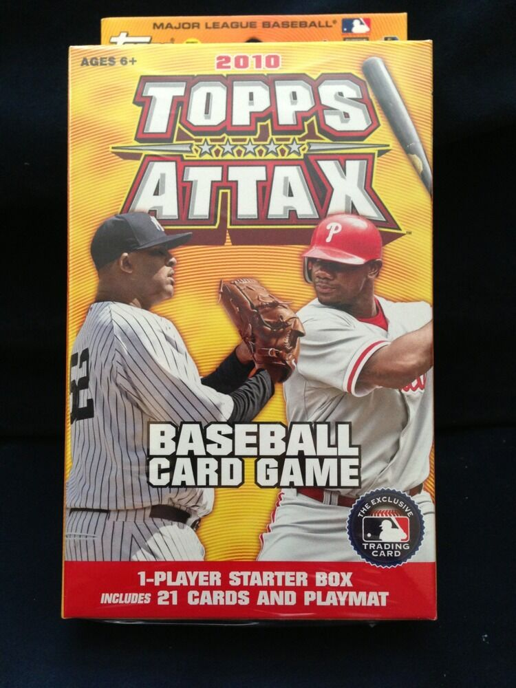 2010 Topps Attax Starter Box Sealed 21 Cards And Playmat