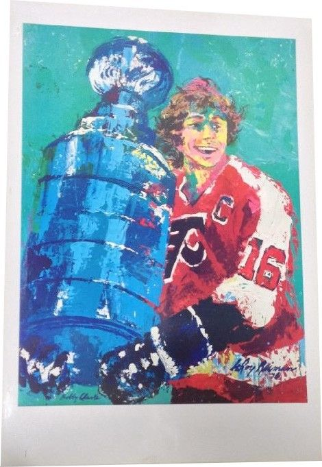 Bobby Clarke Original Leroy Neiman 8 Color Keys Lithograph Flyers 26×38 1/1 cup