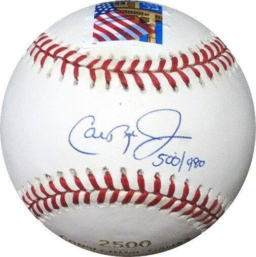 Cal Ripken Jr. Signed Engraved 2500 Games Stamped Baseball LE /980 Ripken Holo