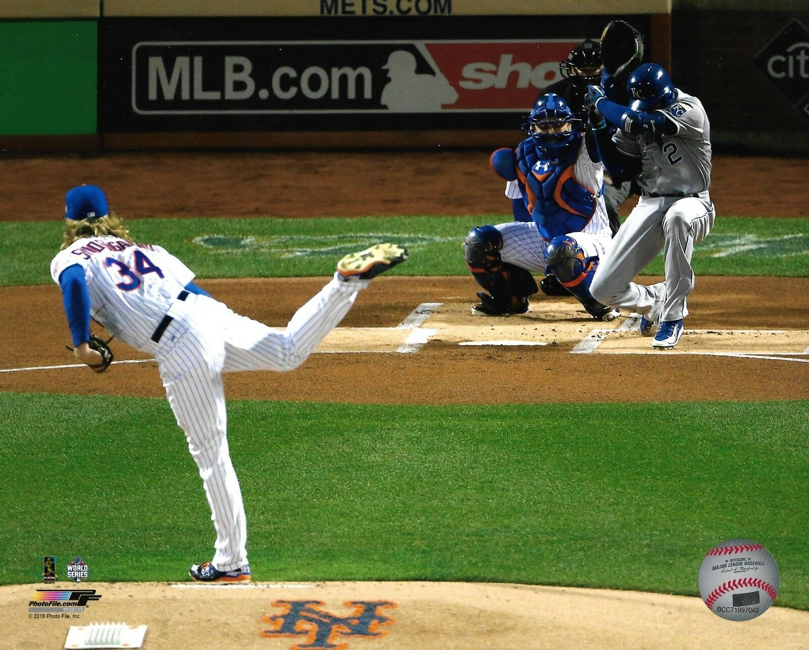 Noah Syndergaard 2015 World Series 1st pitch game 3 8×10 photo Mets Citi Field