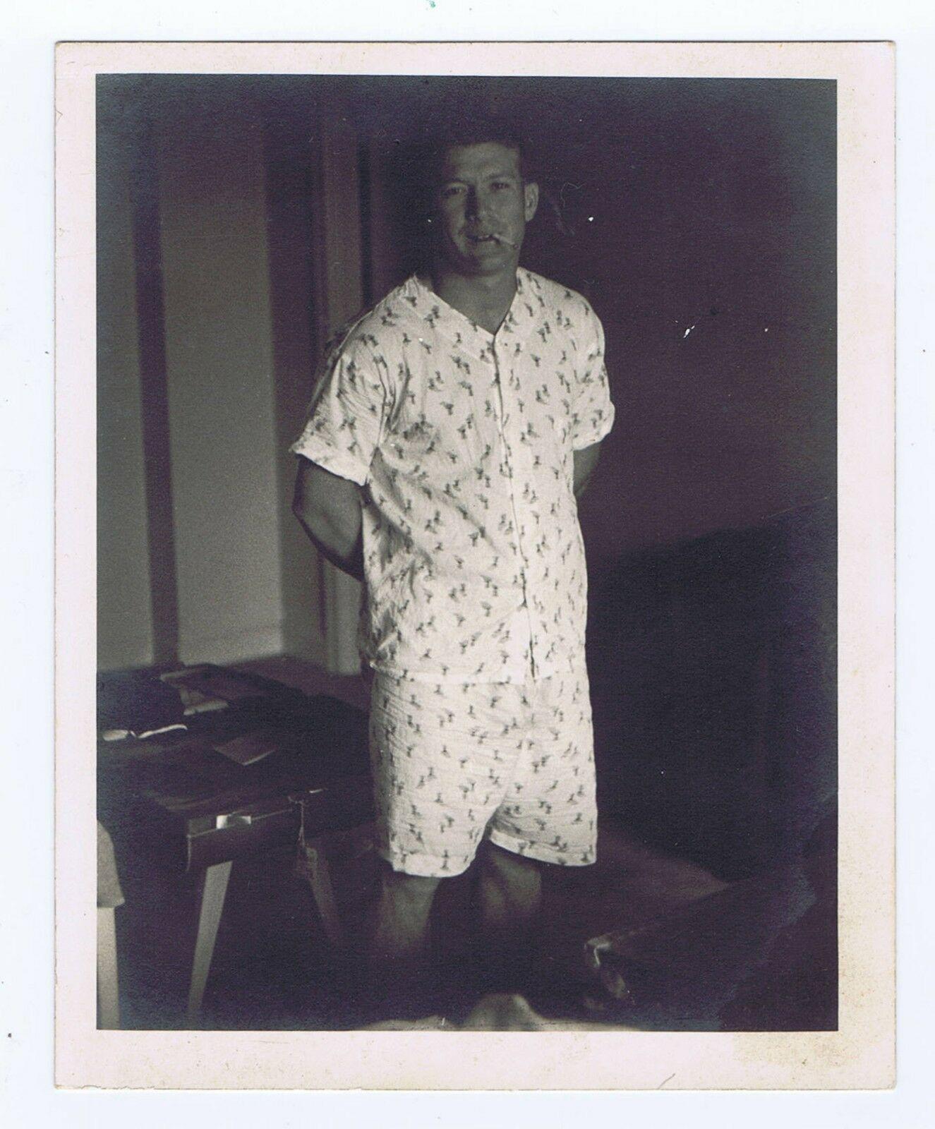 Mickey Mantle 4×5  Photo Smoking Pajamas Type 1 PSA DNA coa 1950's 1/1 RARE
