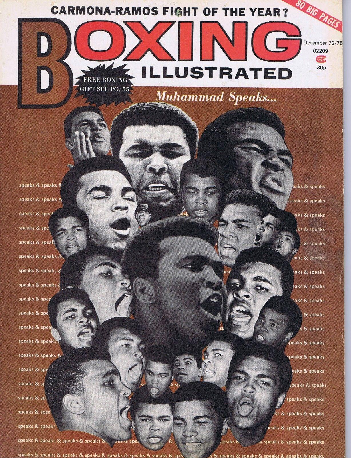 Muhammad Ali Boxing Illustrated fight Magazine program Mint December 1972