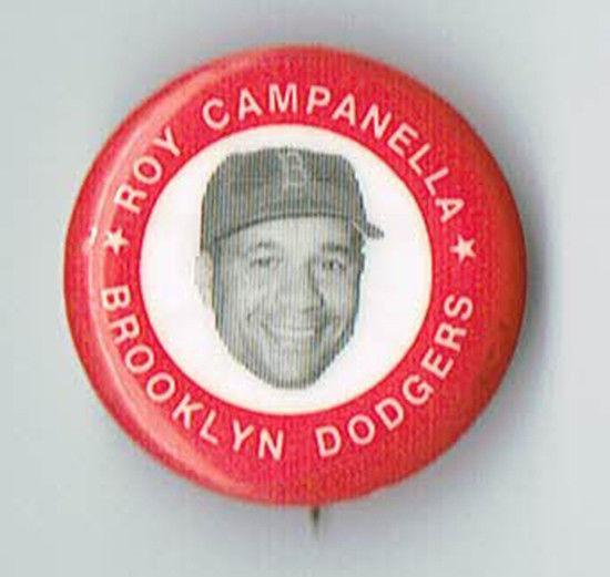 1969 Original MLBPA Roy Campanella Hat Pin Brooklyn Dodgers NM .8″
