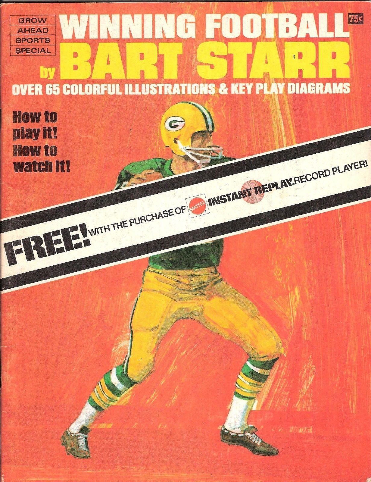 Bart Starr Green Bay Packers 1968 Winning Football Magazine Great Shape NM