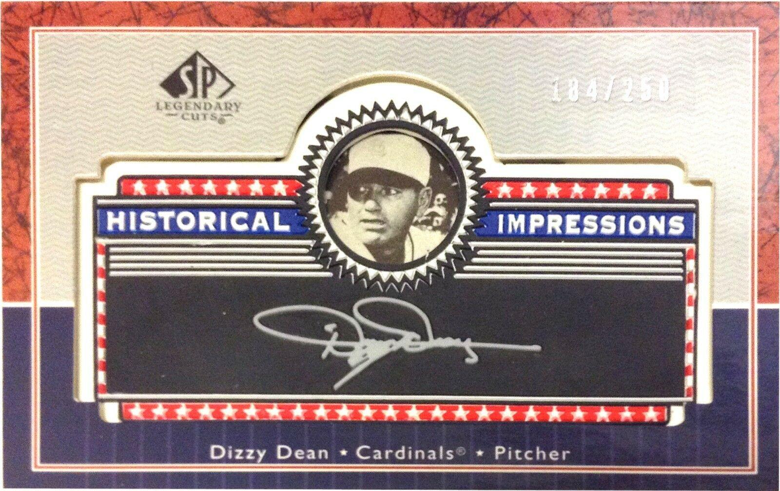 Dizzy Dean 2003 Upper Deck SP Legendary Cuts L-DD Historical Impressions 184/250