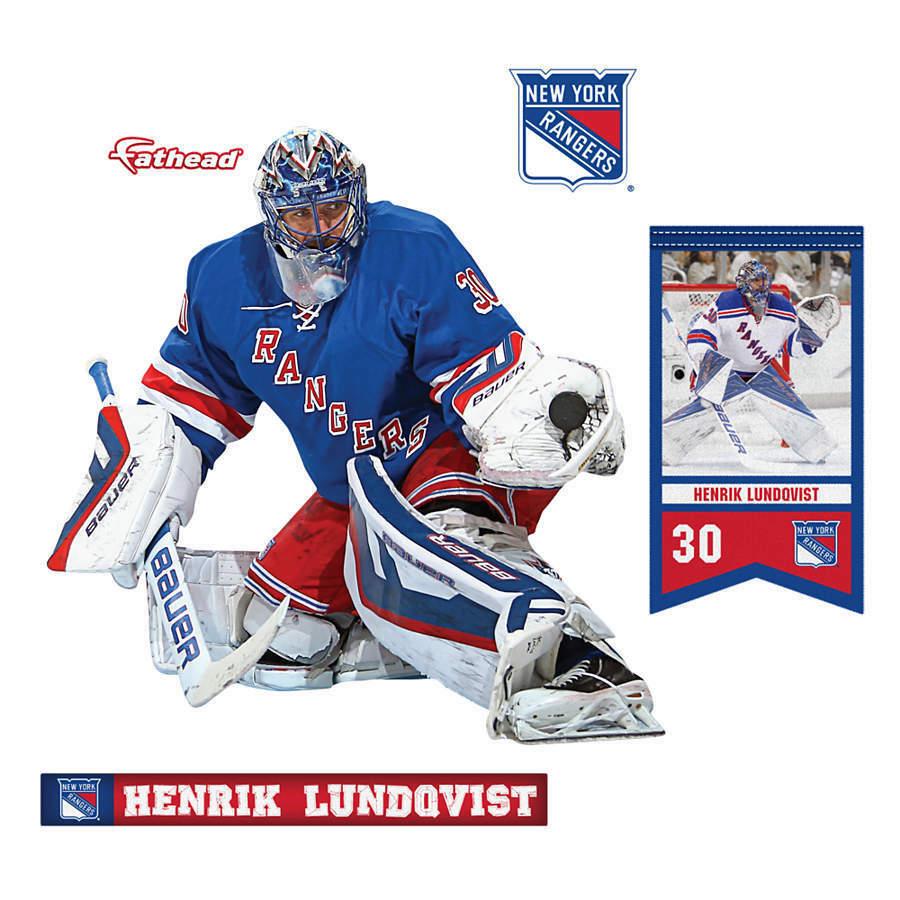 Henrik Lundqvist NY Rangers teammate fathead 8×7 new goalie the king