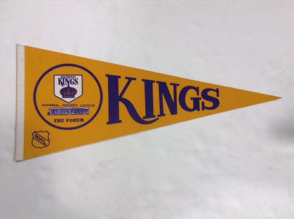 Los Angeles Kings Original Nhl Licensed Pennant  banner 1970s dionne  Nice Rare