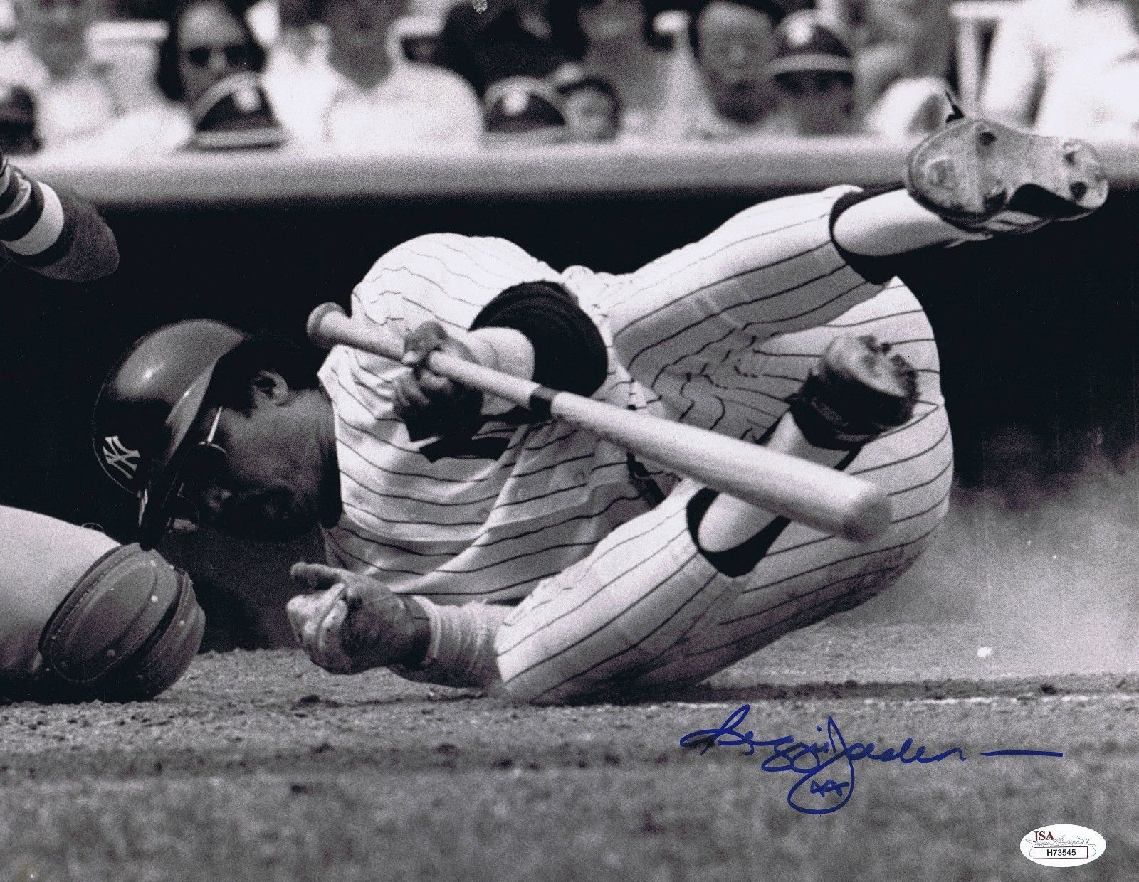 Reggie Jackson Signed 11×14 Original RARE Photo NY Yankees Autograph JSA COA
