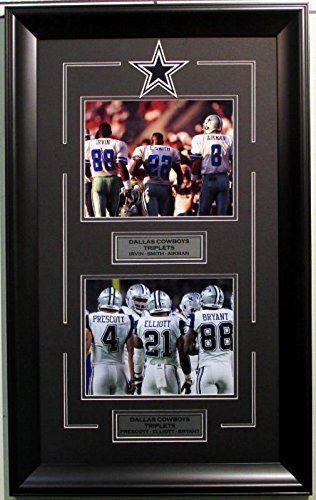 Dallas Cowboys legends  2 8×10 photo logo Dak Prescott Ezekiel Elliott Aikman