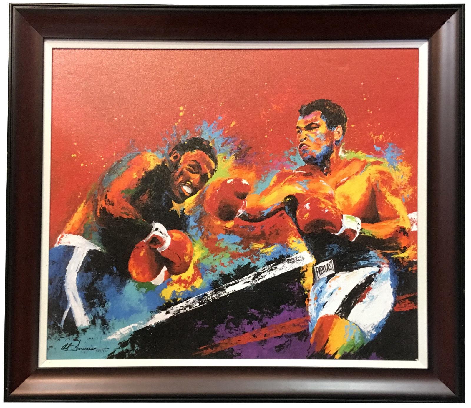Muhammad Ali & Joe Fraizer Framed 18×24 Giclee Canvas Artwork