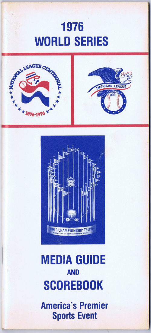 1976 World Series Media Guide and Scorebook Yankees/Reds MINT