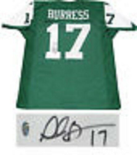 Plaxico Burress Hand Signed New York Jets Green #17 Jersey Holo