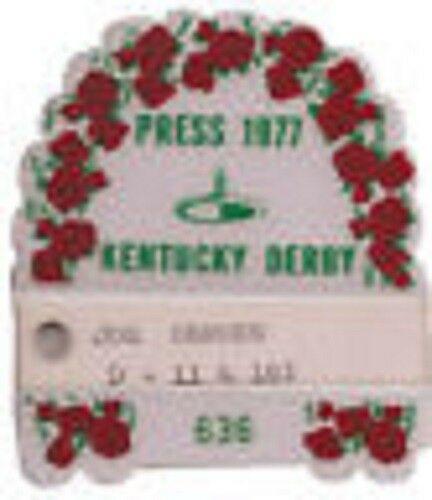 '77 Kentucky Derby Press Pass Seattle Slew Triple Crown