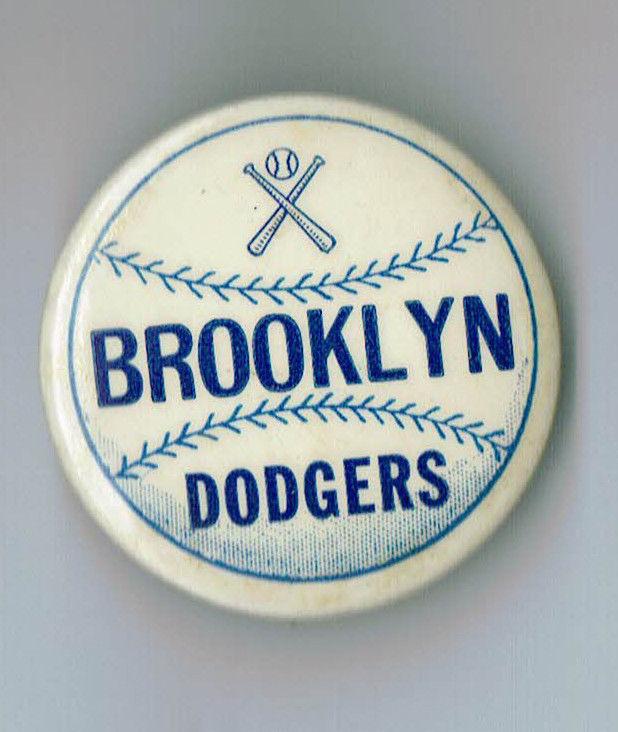 1950s Brooklyn Dodgers Vintage Crossing Bats Pin NM RARE 1.75″