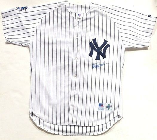 Jorge Posada Signed 2000 World Series Authentic Yankees Jersey w/ Patch Auto COA