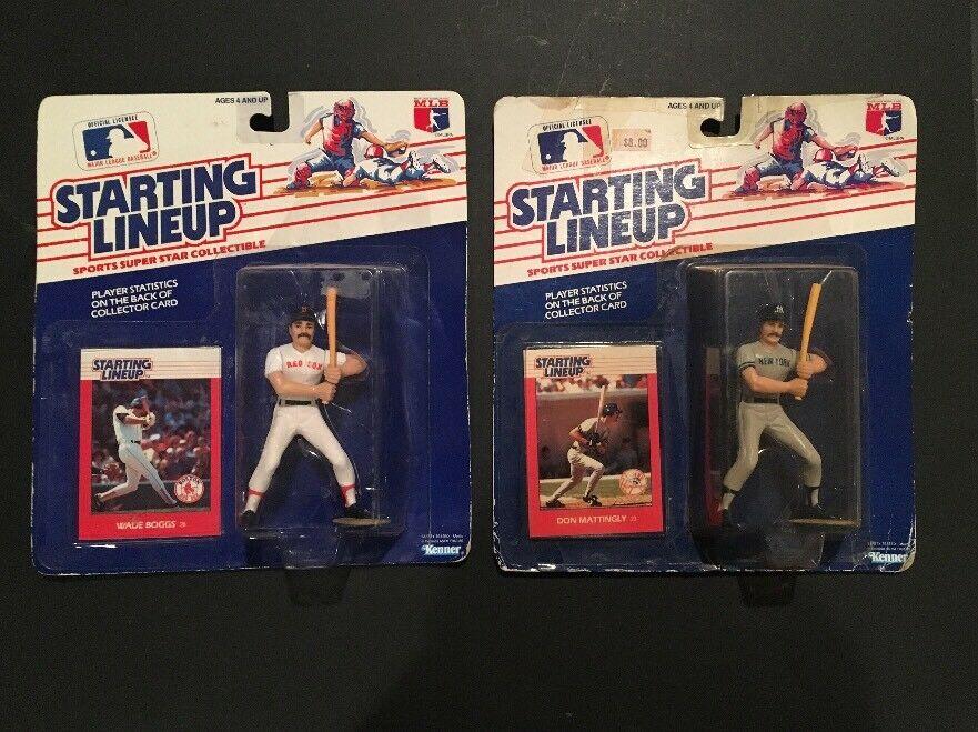 1988 DON MATTINGLY & Wade Boggs Starting Lineup SLU Figure & Card Sealed New