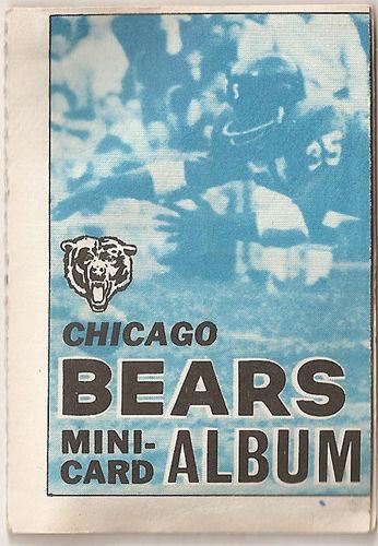 1969 Chicago Bears Mini Card Album All 10 Piccolo RC,Sayers,Butkus 4 in 1