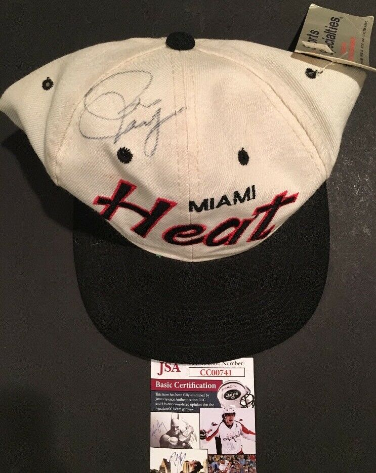 Pat Riley Signed Miami Heat Hat Basketball Vintage Autograph JSA COA Hof Coach