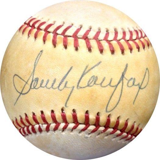 Sandy Koufax Signed ONL Charles Feeney Baseball Brooklyn Dodgers Auto COA