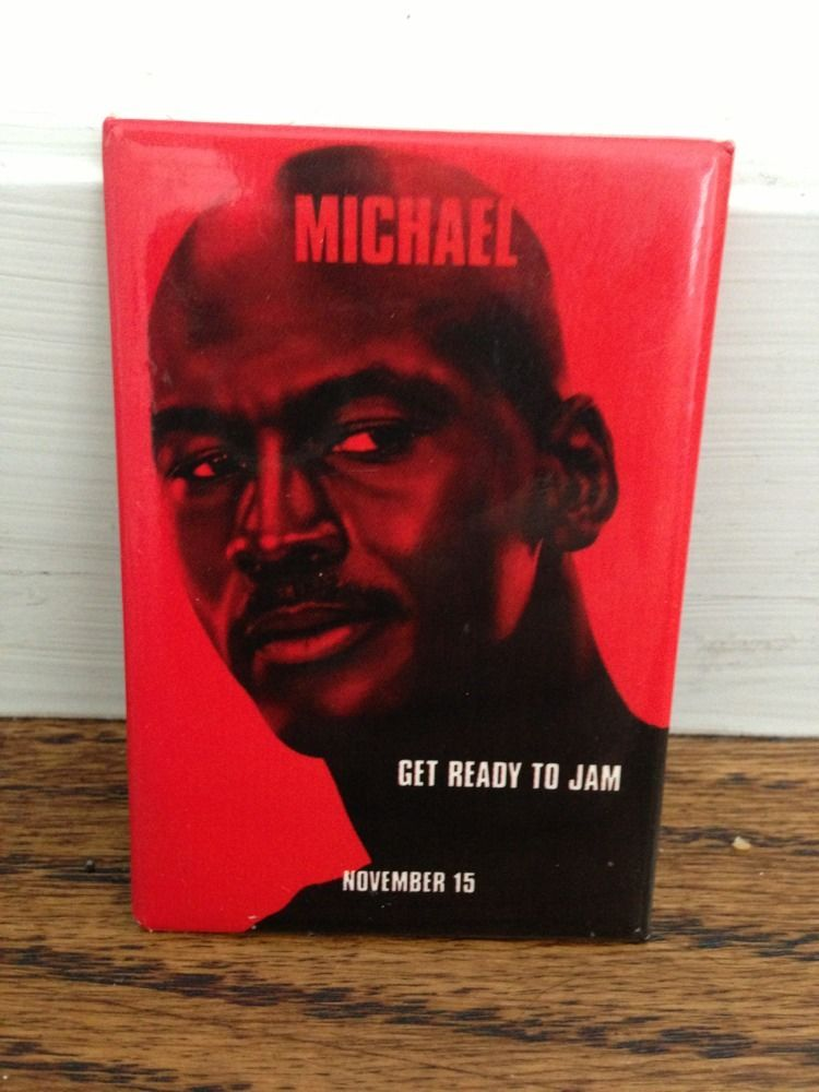 Michael Jordan 3 Inch Space Jam 1996 Promo Pin Button Bulls Rare original