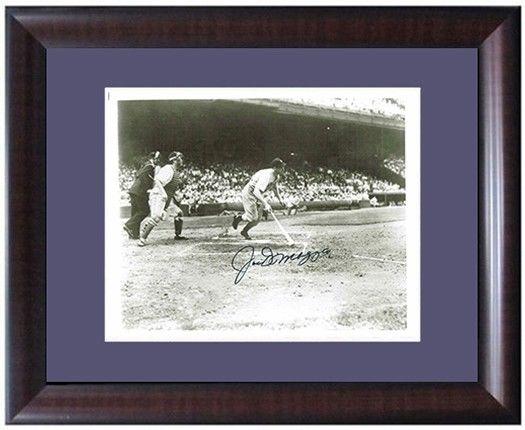 Joe DiMaggio Signed Framed B&W 8×10 Swinging Yankees Photo Auto JSA PSA Guar COA