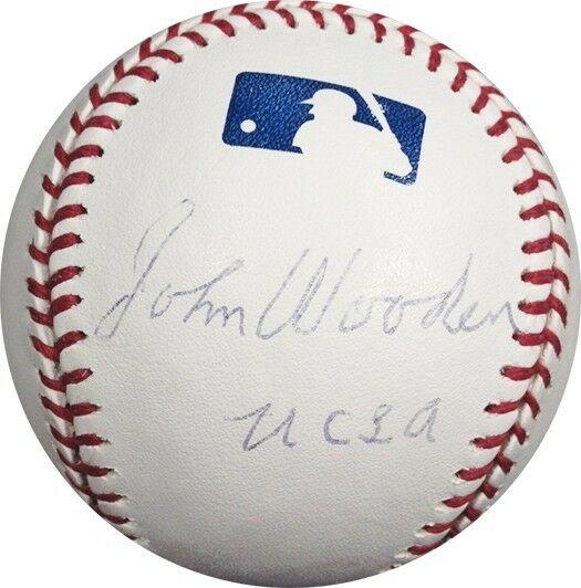 "John Wooden Signed Inscribed ""UCLA"" OML Baseball Coach Legend Auto PSA/DNA"