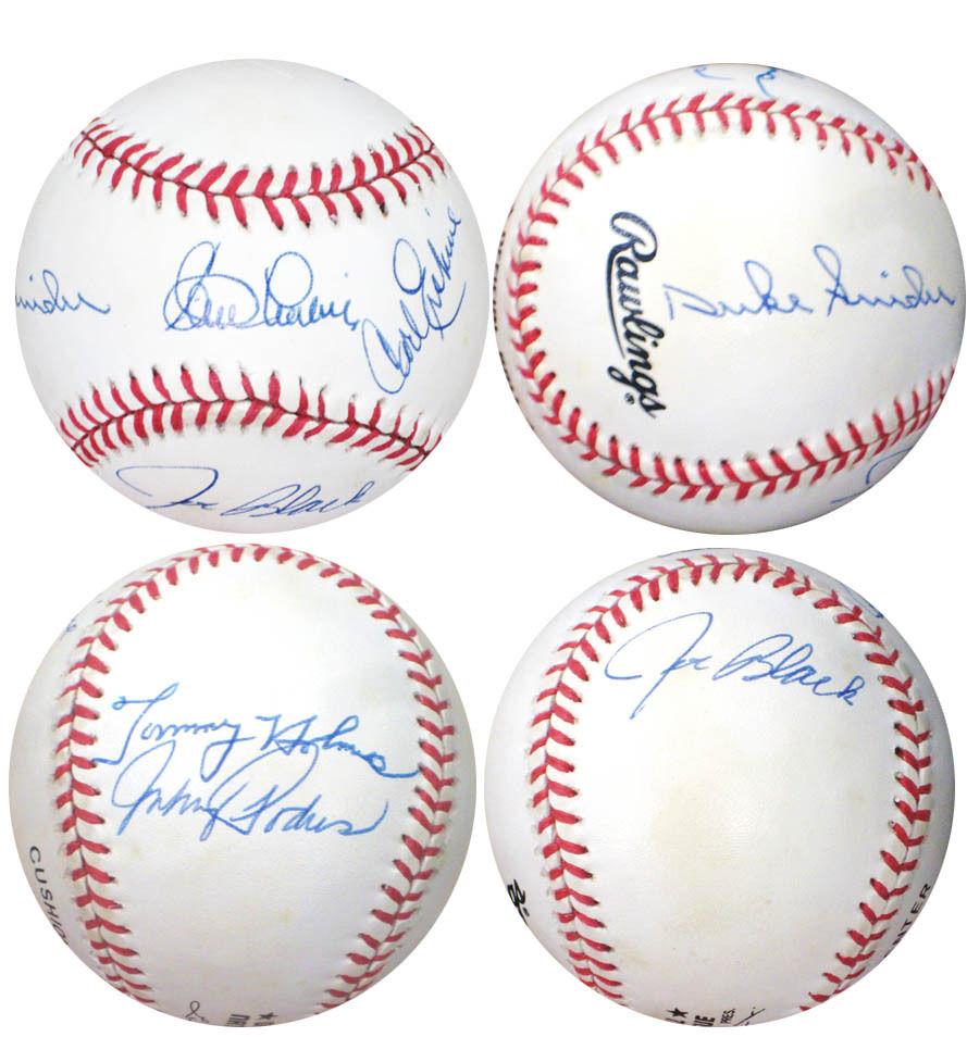 brooklyn Dodgers  Signed ONL Baseball Snider Podres labine 6 autograph cbm coa
