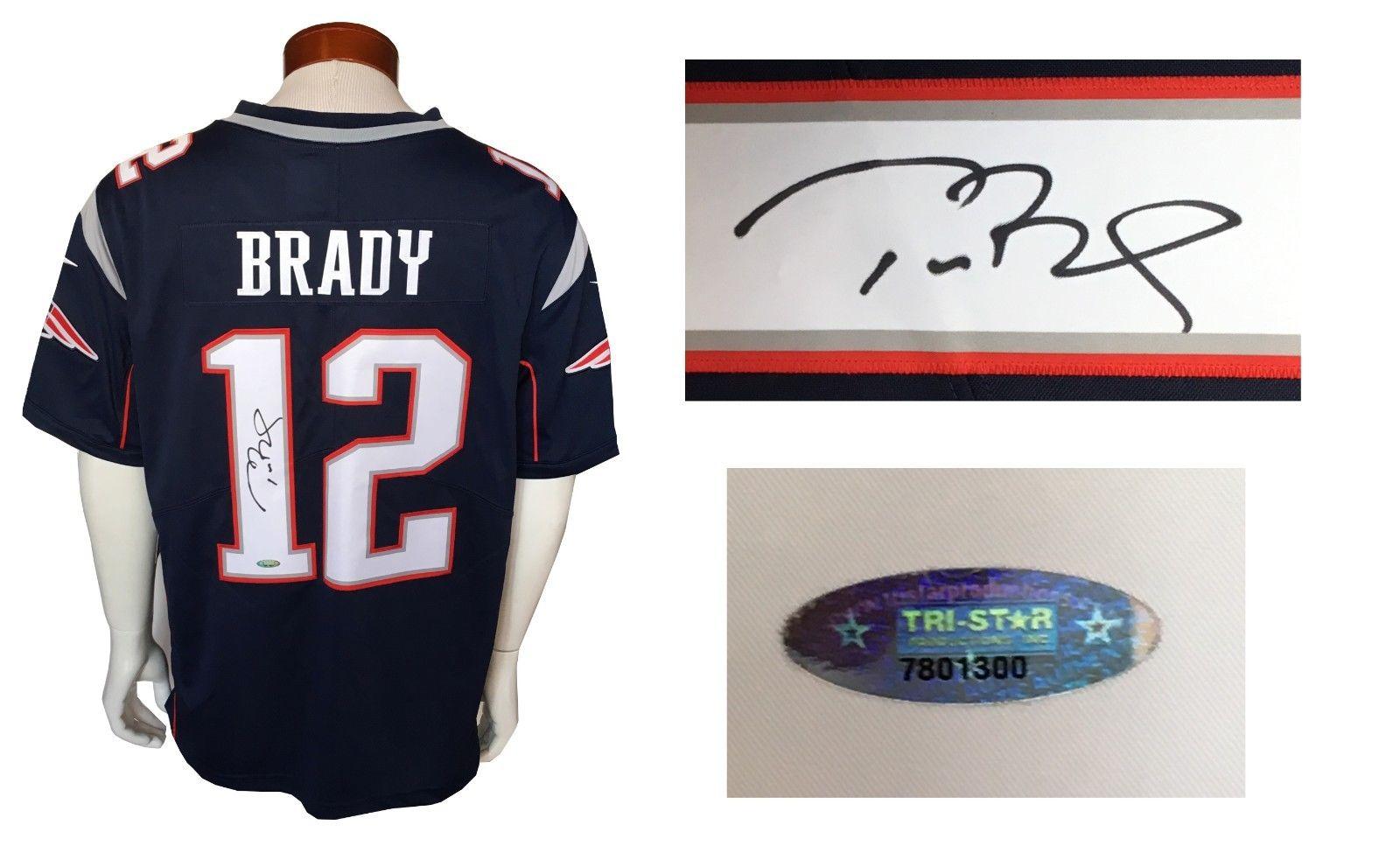 Tom Brady signed #12 Nike On Field sewn Patriots jersey autograph Tristar COA