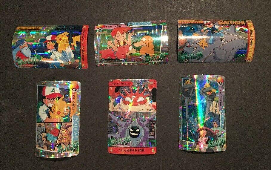 1999 Bandai Pocket Monsters Anime Collection Rocket Pikachu Pokemon 6 Holofoil