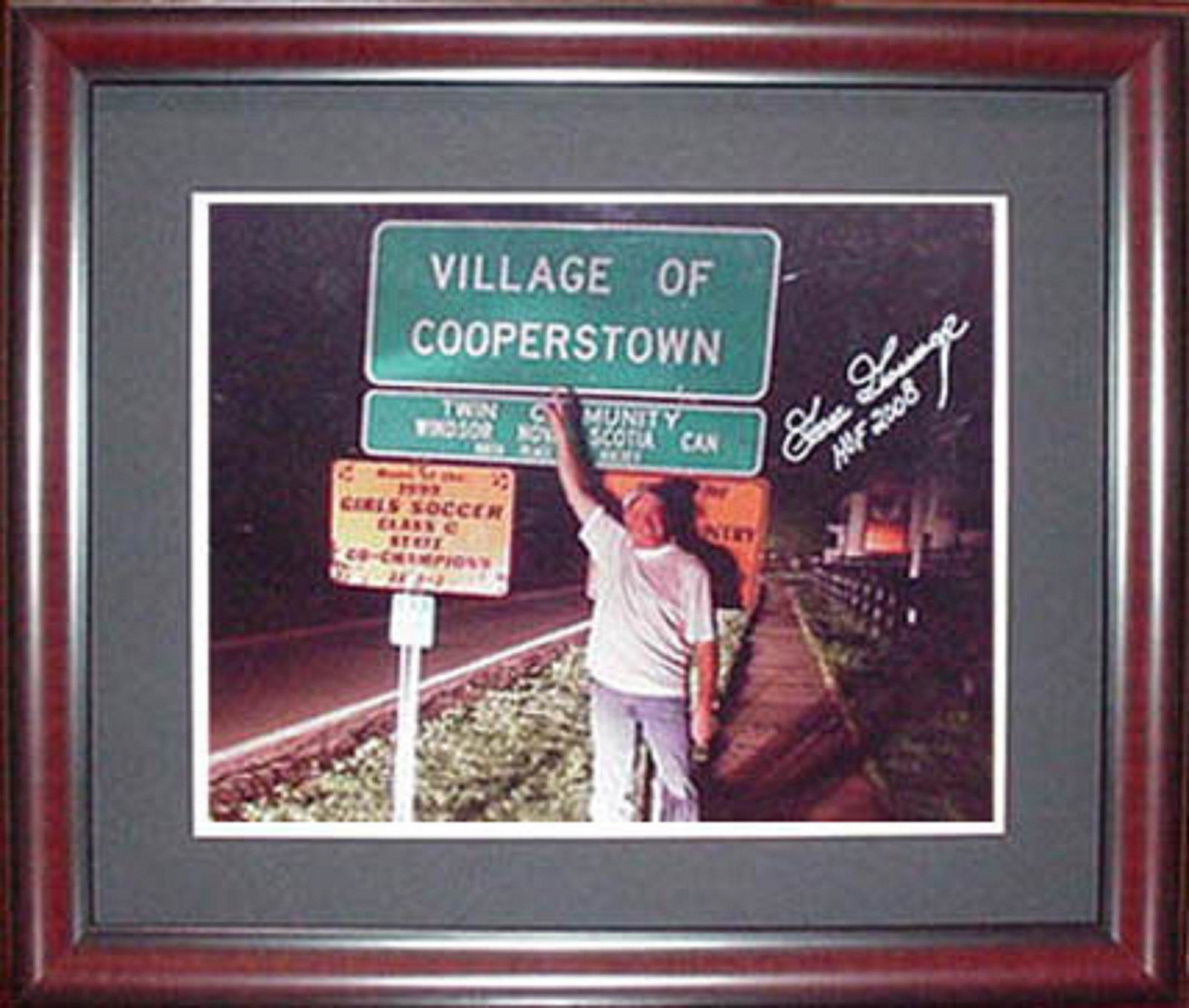 Goose Gossage Signed Inscribed hof 2008 cooperstown 11×14 Framed Photo agent coa