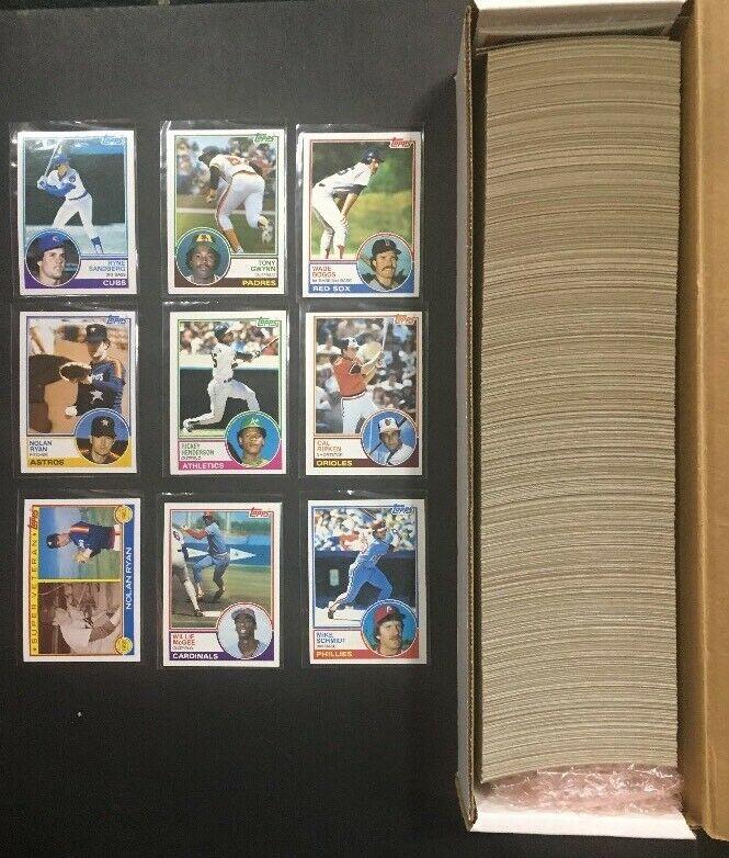 1983 Topps Complete Baseball Card Set Mint Tony Gwynn Rc Boggs Sandberg Rookie